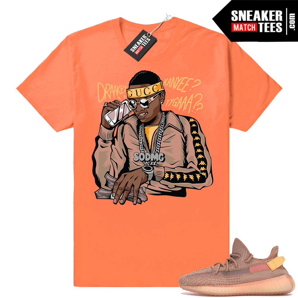 Match Yeezy 350 V2 Clay sneaker tees