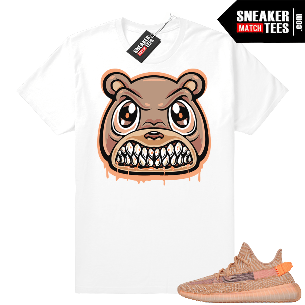 Match Yeezy Clay sneakers tee