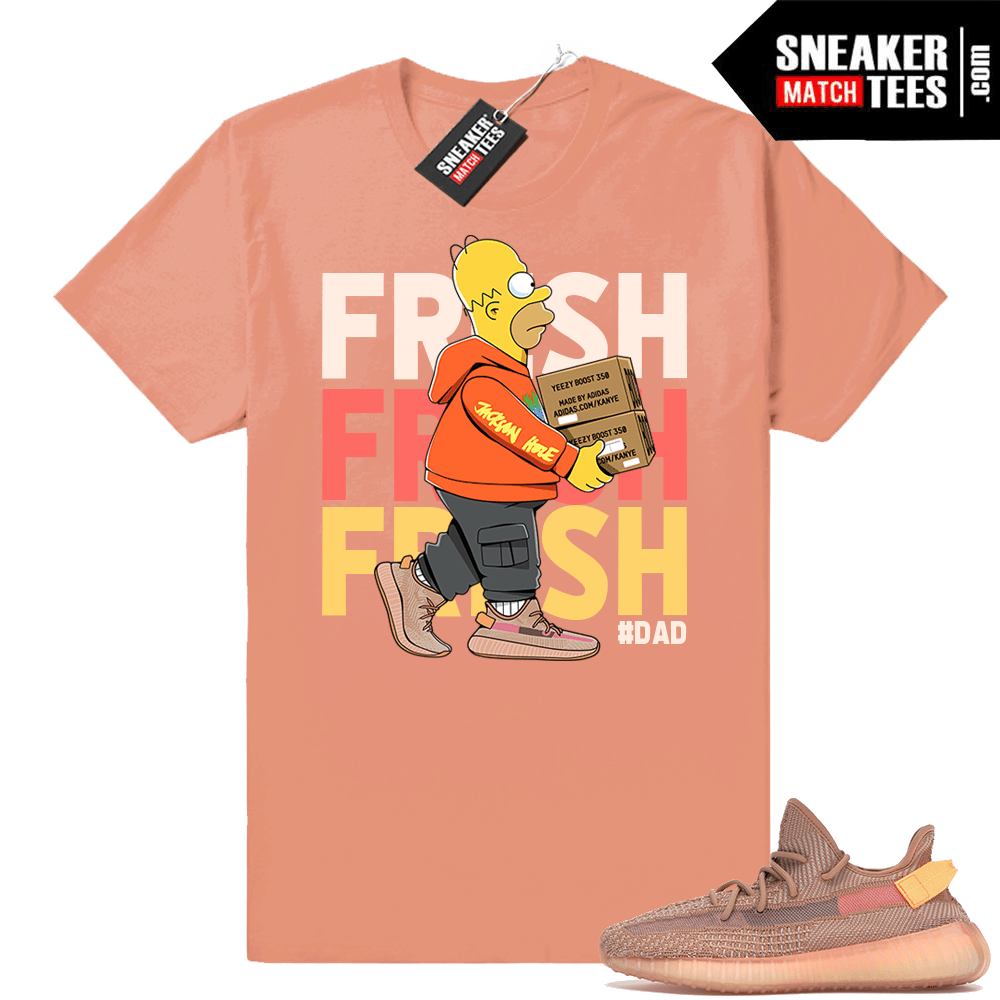 Yeezy Boost 350 Clay sneaker matching tees