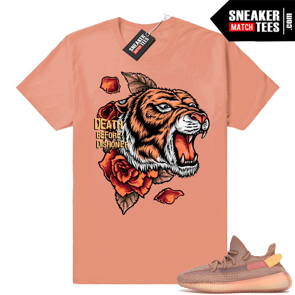 Yeezy Boost 350 V2 Clay Death Before Dishoner tee
