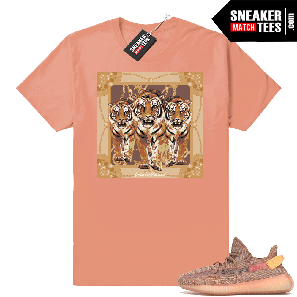 Yeezy Boost 350 V2 Clay Designer tees