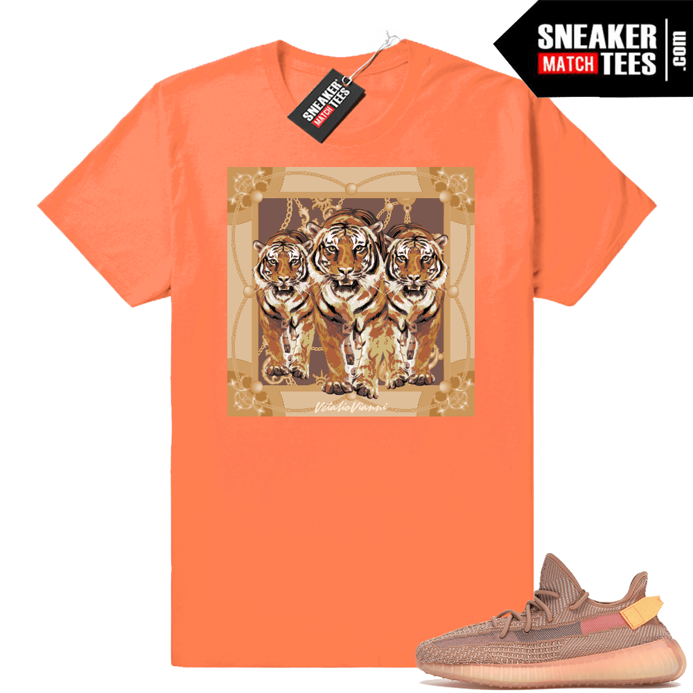 Yeezy Boost 350 V2 Clay match Designer tees