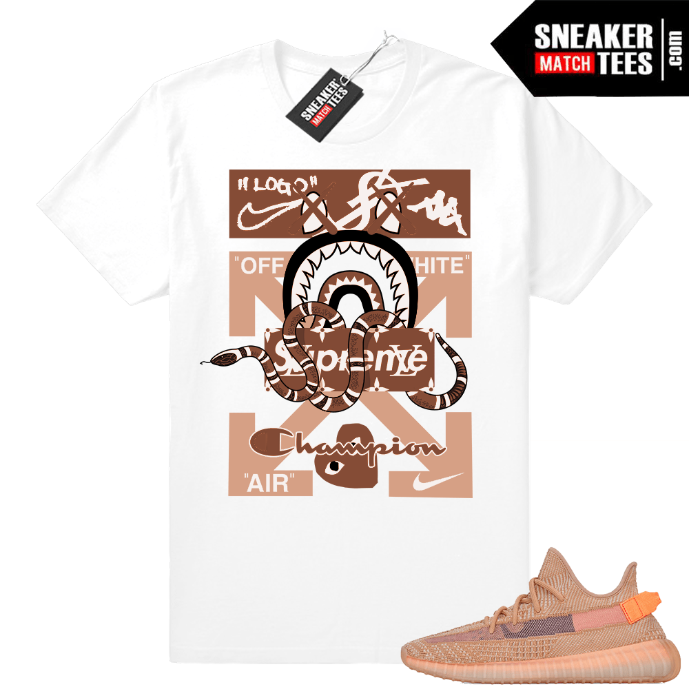 Yeezy Clay 350 V2 sneaker match tees