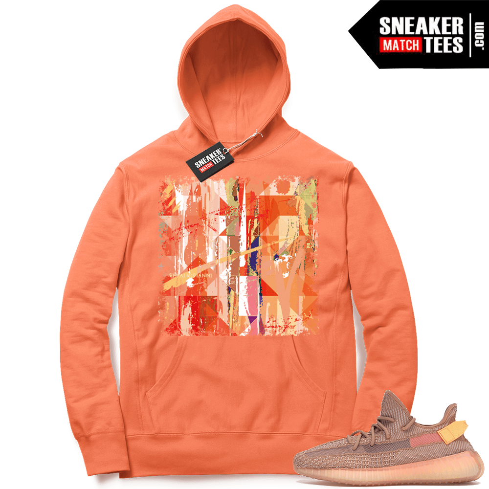Yeezy Clay sneaker match hoodie sweater
