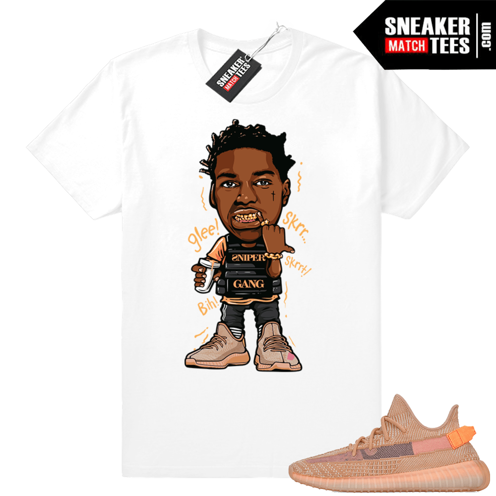 Yeezy sneaker shirts Clay 350s