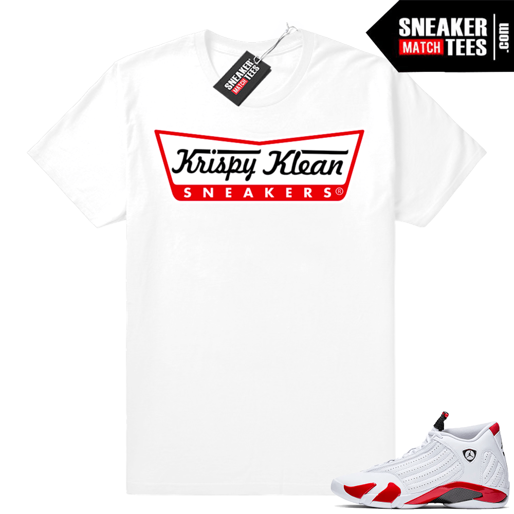 481307f2962244 Air Jordan 14 shirts Candy Cane