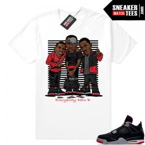 9bf913de688e82 Air Jordan Retro 4 Bred Sneaker tees