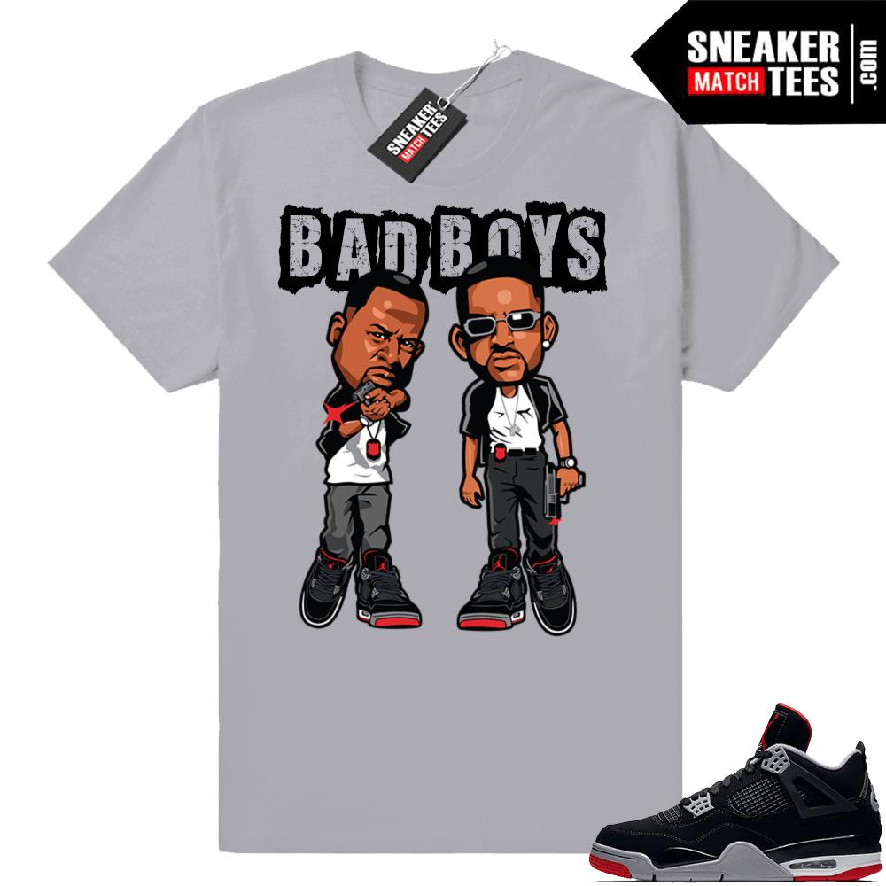 2c9b9dcdba06e9 Jordan 4 Bred T-shirts