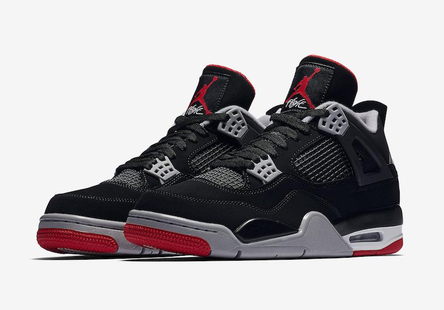 58e39a10440 Jordan 4 Bred | Jordan Sneaker Match Clothing Shop