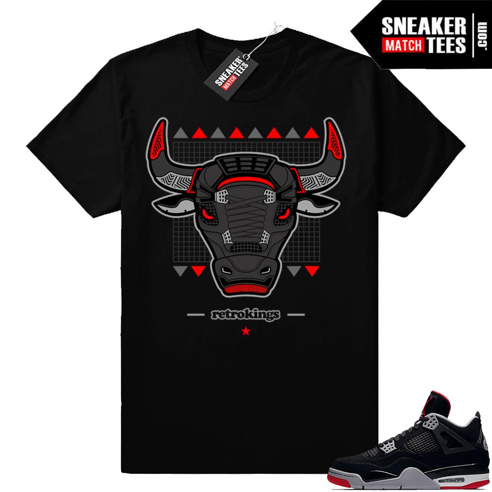 6d13f4fa6bb564 Jordan 4 bred sneaker match t-shirt