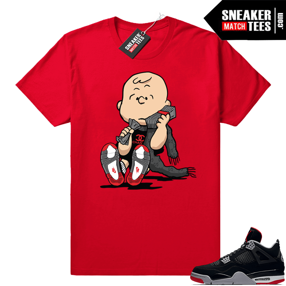 b36bbc0a1bd793 Jordan retro 4 sneaker shirt bred