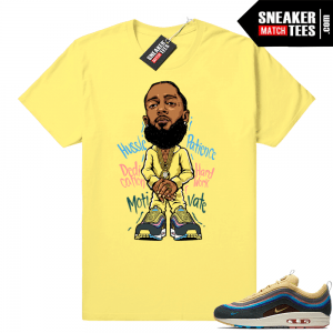 Sean Wotherspoon Air Max 1 Nipsey Hussle Yellow tee