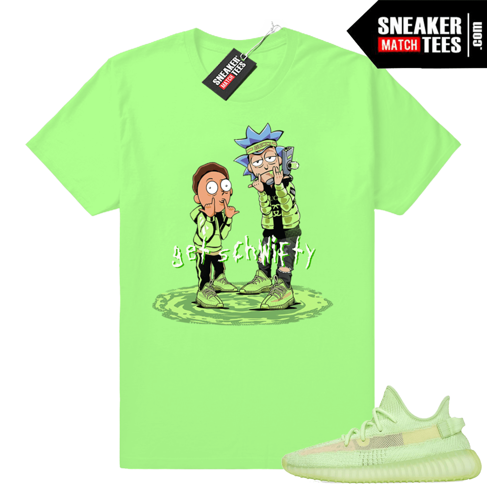 Shirts Green Glow Yeezy Boost 350 V2