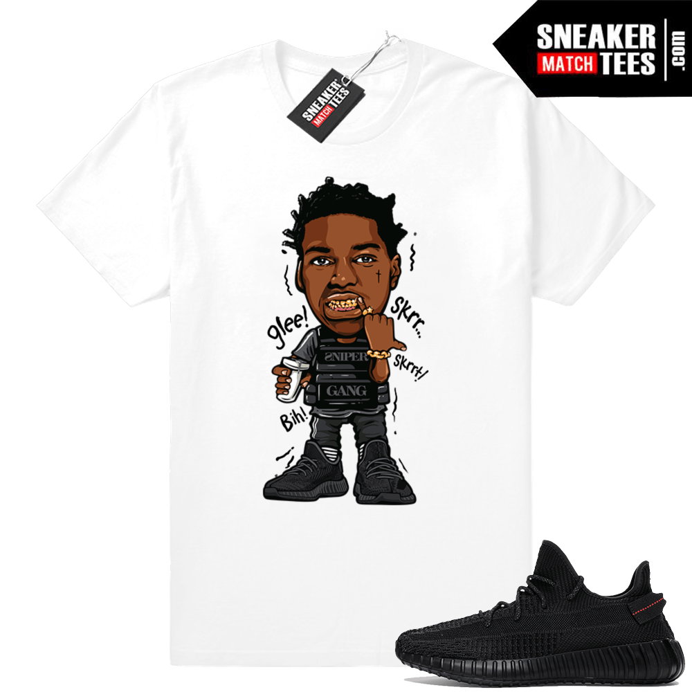 Sneaker tees designed to match Black Yeezys