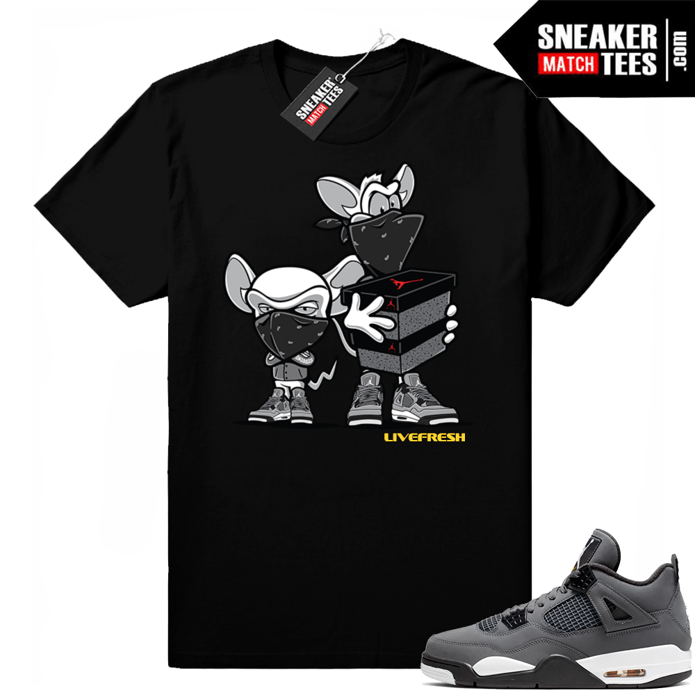 Air Jordan retro 4 sneaker tees cool grey