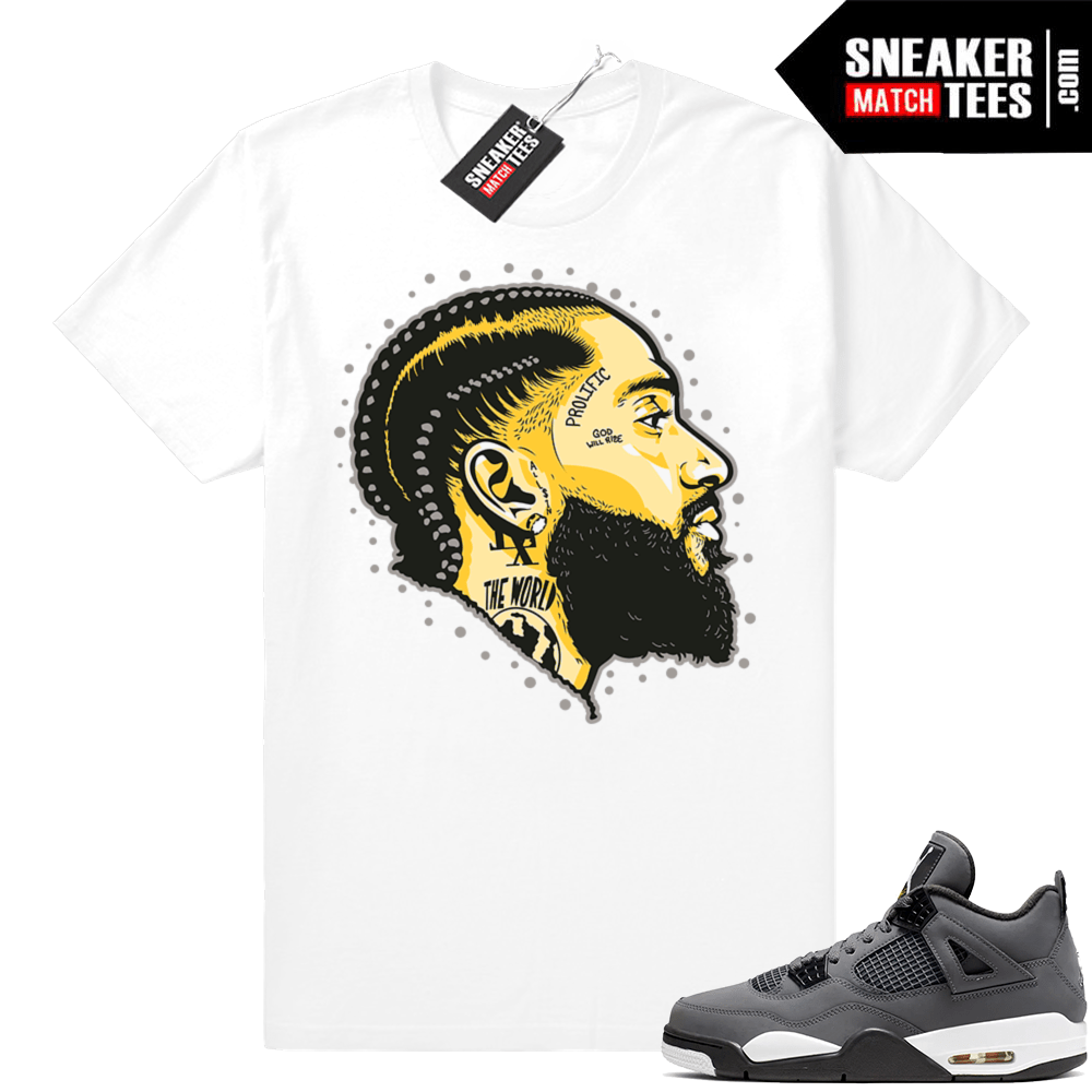 Jordan 4 Cool Grey Matching Sneaker tees