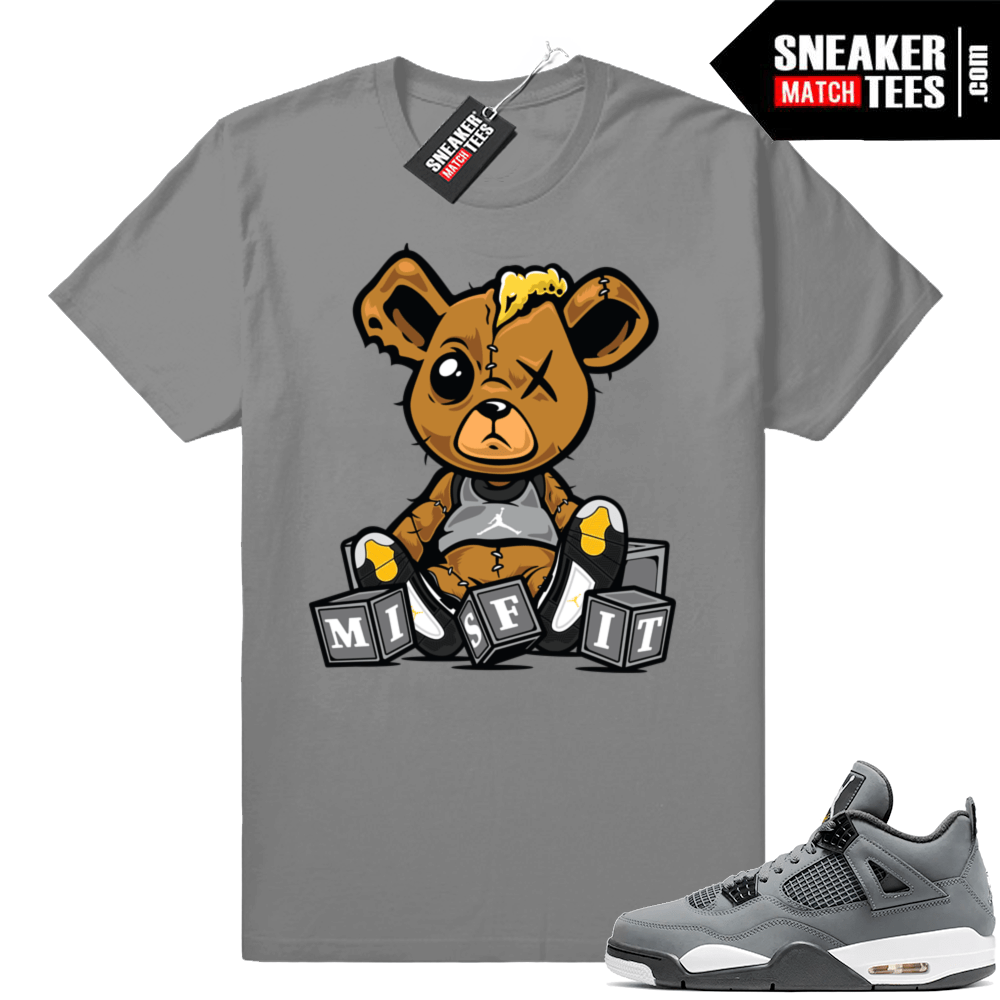 Sneaker match Jordan 4 Cool Grey tees