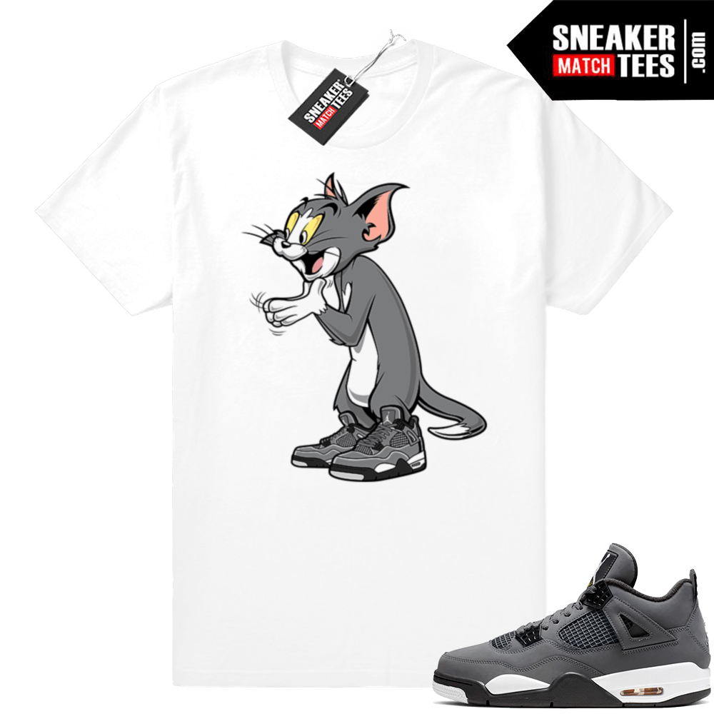 Sneaker shirts matching Cool Grey Jordan 4