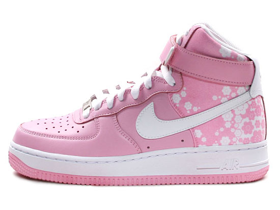 Nike Air Force 1 Womens Pink Amp White Flowers