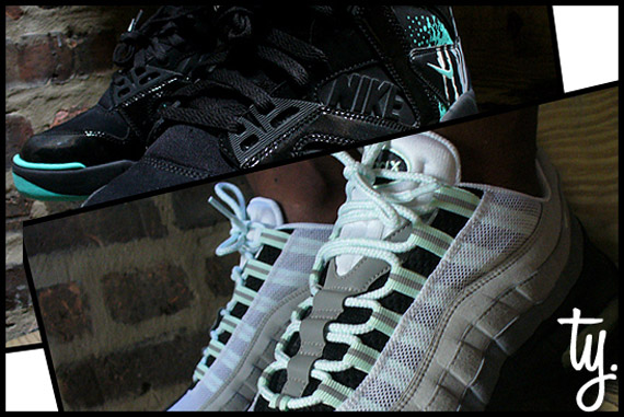 Nike Air Tech Challenge Hybrid Black   Tiffany   Unreleased Sample