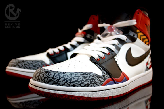 Air Jordan 1   What The One Customs by Revive