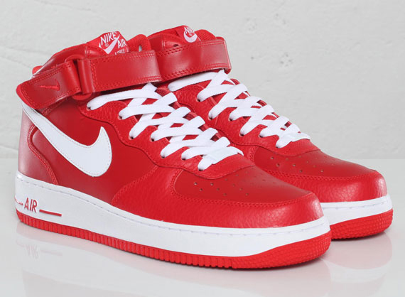 Nike Air Force 1 Mid Sport Red White