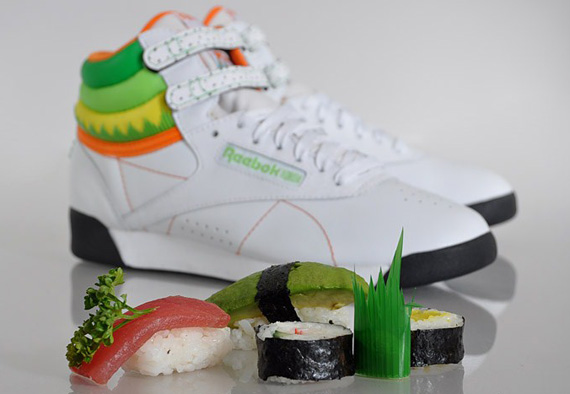 Reebok Freestyle Hi Sushi International Edition