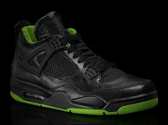 Air Jordan IV BlackNeon Green Collection  SneakerNewscom