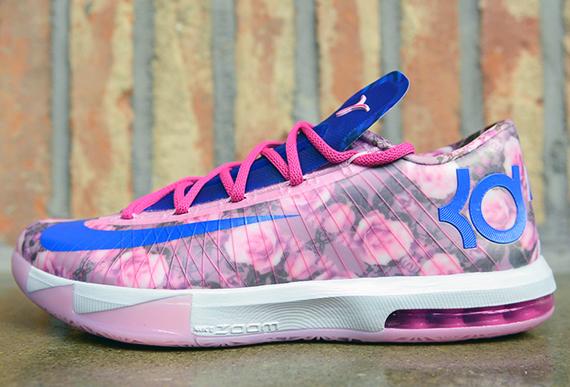 Nike KD 6 Supreme FloralAunt Pearl