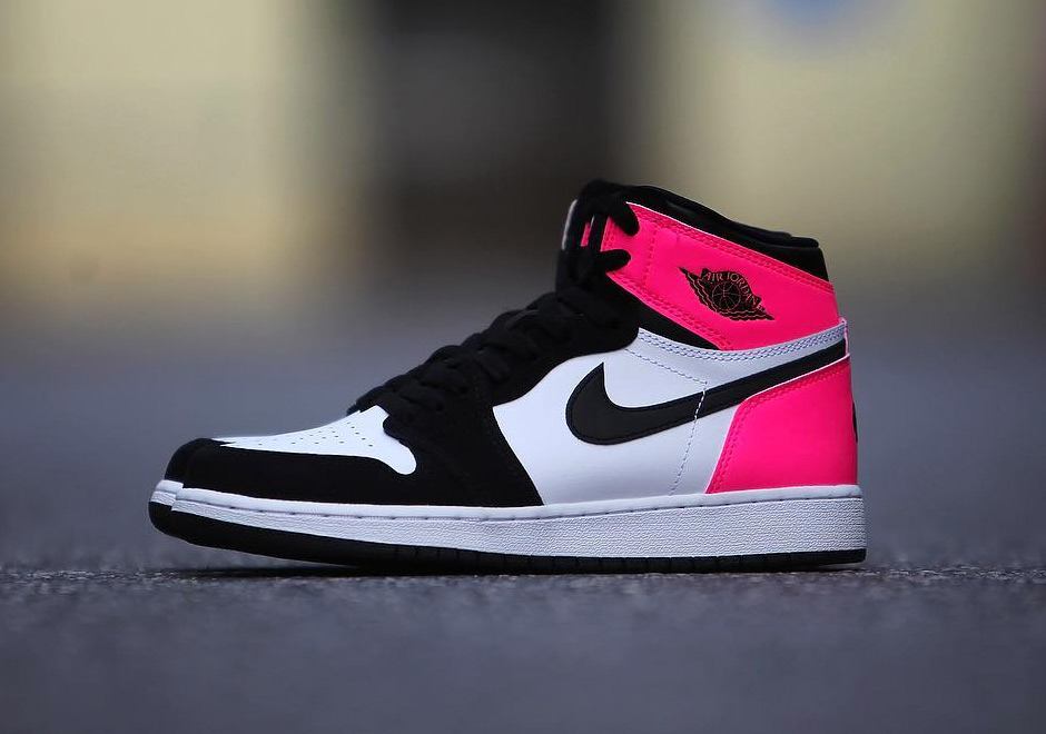 Air Jordan 1 GG Black Pink Valentines Day 2017