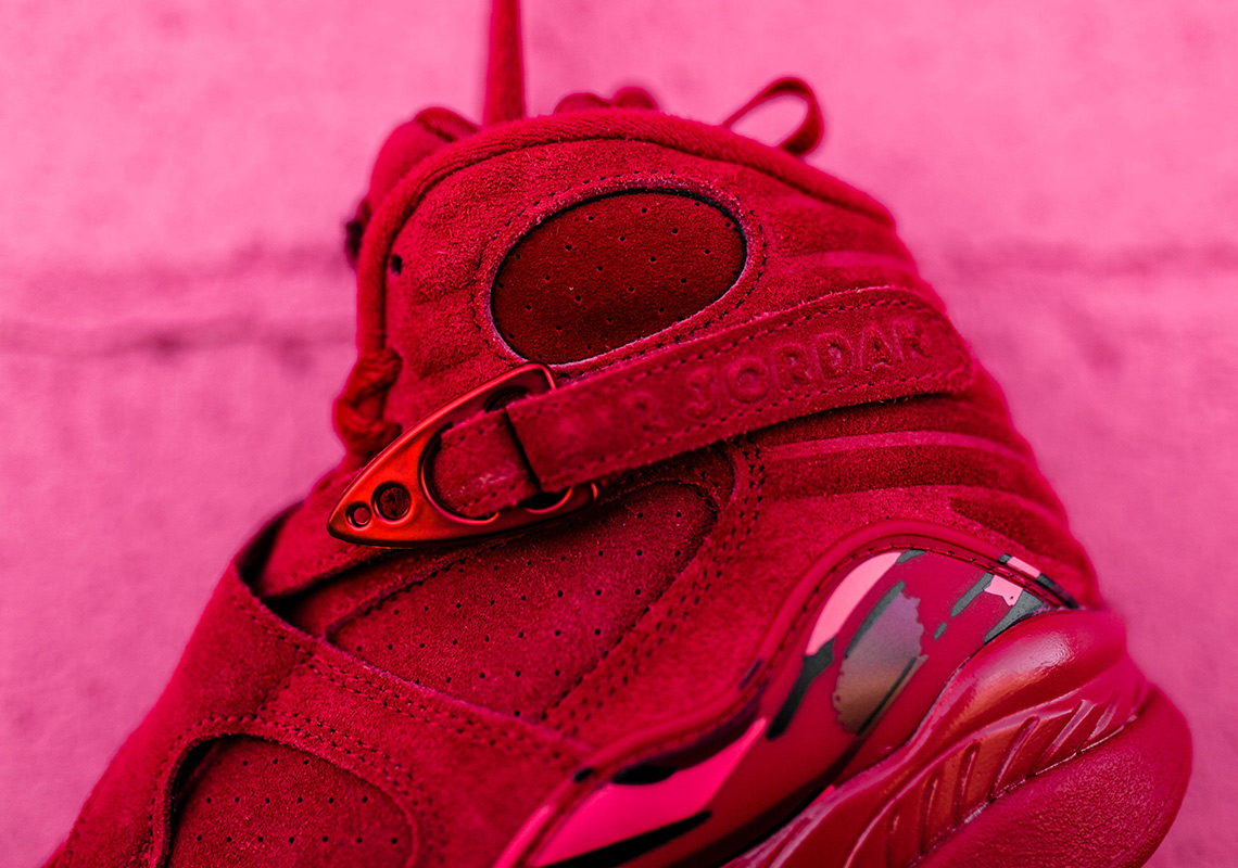 Jordan 8 Valentines Day Red Suede Release Info