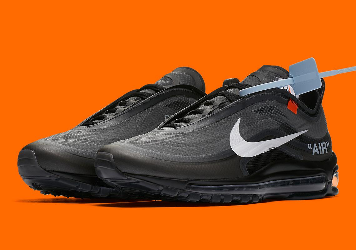 Nike Off White Air Max 97 Black On Feet S Nike X White Air Max