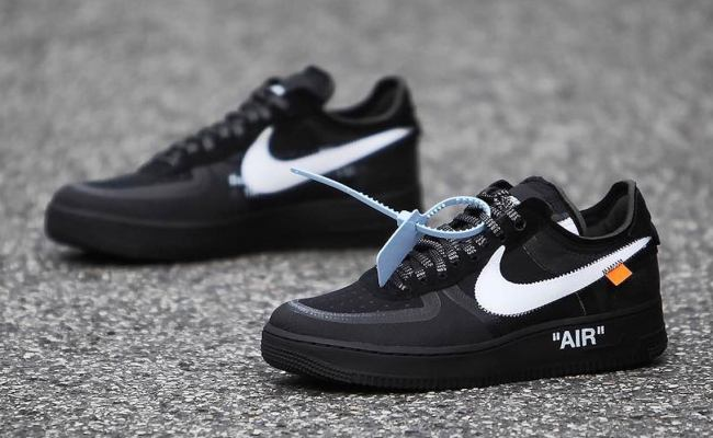 Off White Nike Air Force 1 Low Black Volt Info