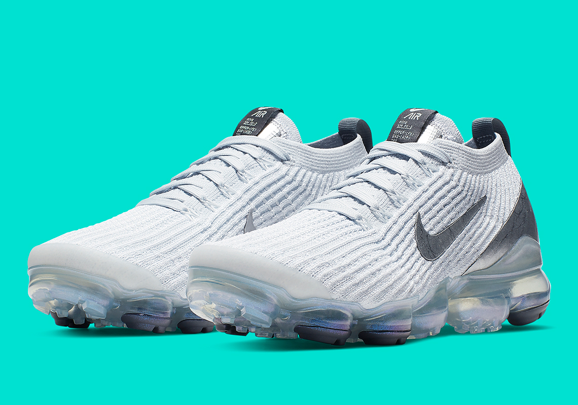 Nike Vapormax Flyknit 3 Womens Metallic Silver AJ6910101  SneakerNewscom