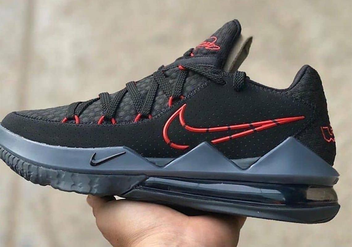 Nike LeBron 17 Low Noir Rouge CD5007 001 Date de Sortie Crumpe