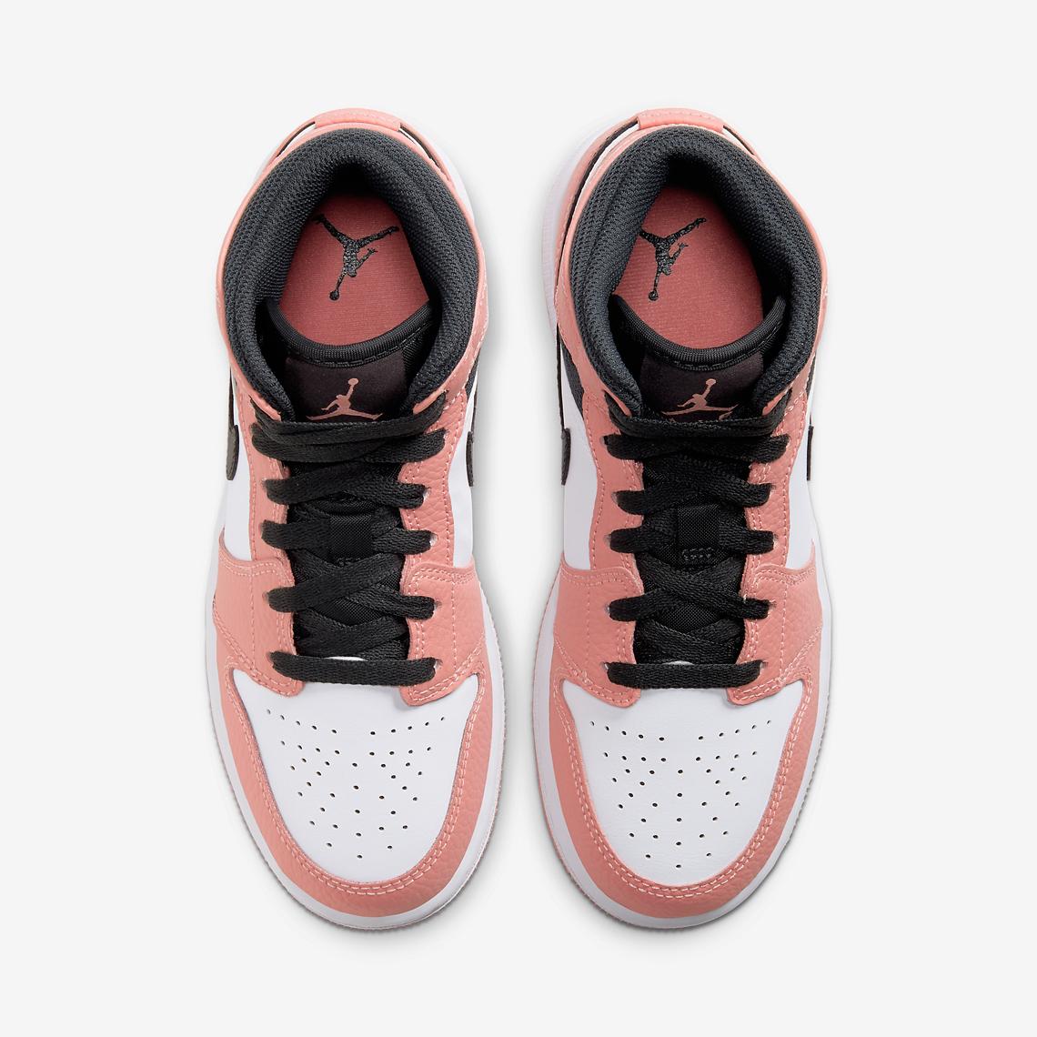 Air Jordan 1 Mid GS Pink Quartz 555112-603 - Crumpe