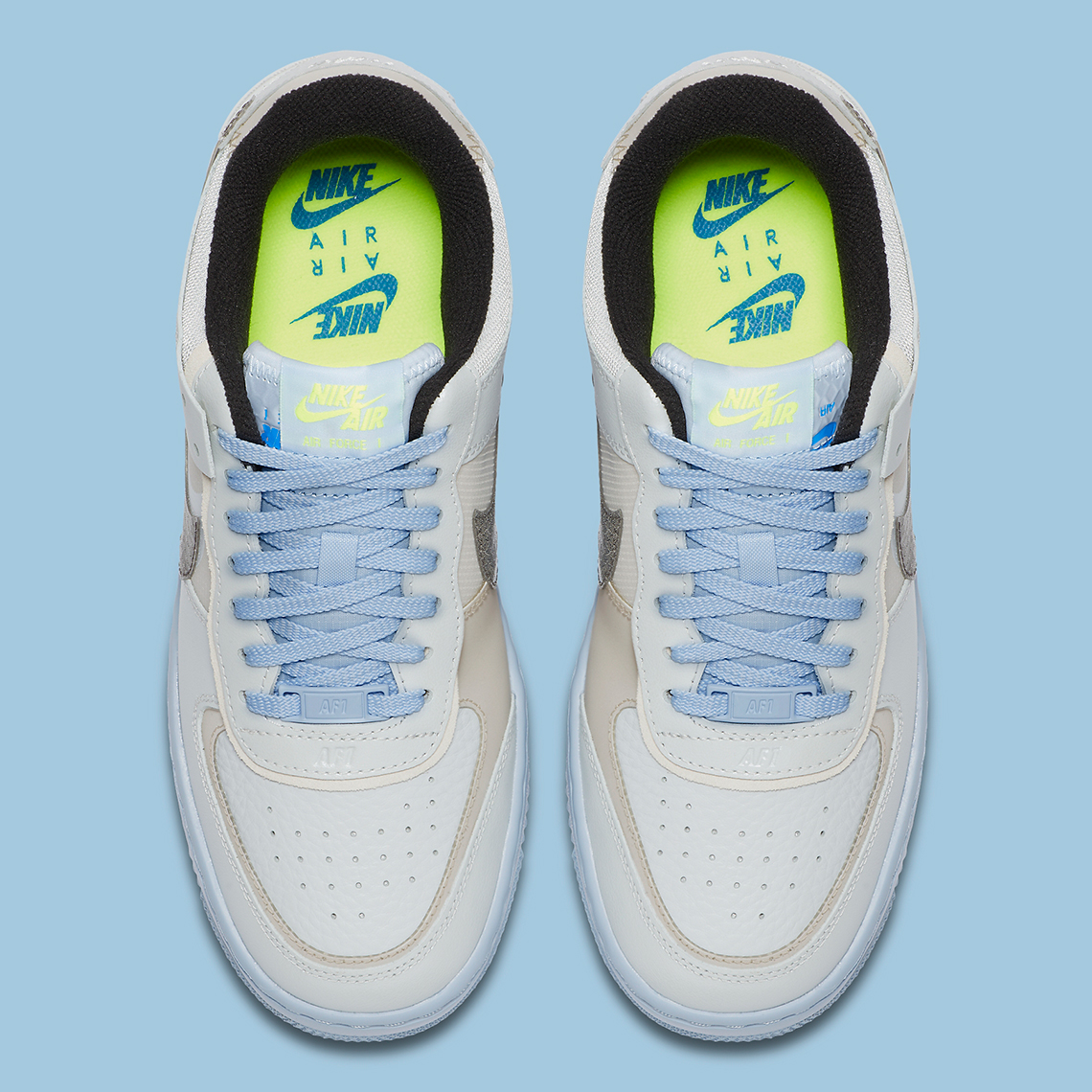 Nike Air Force 1 Shadow Snakeskin Bleu CV3027-001 - Crumpe
