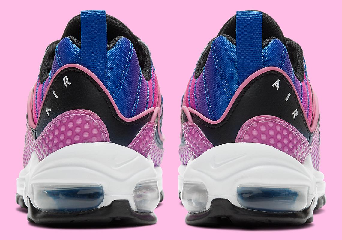 Nike Air Max 98 Bubble Bleu Violet Rose CI7379 400 Crumpe