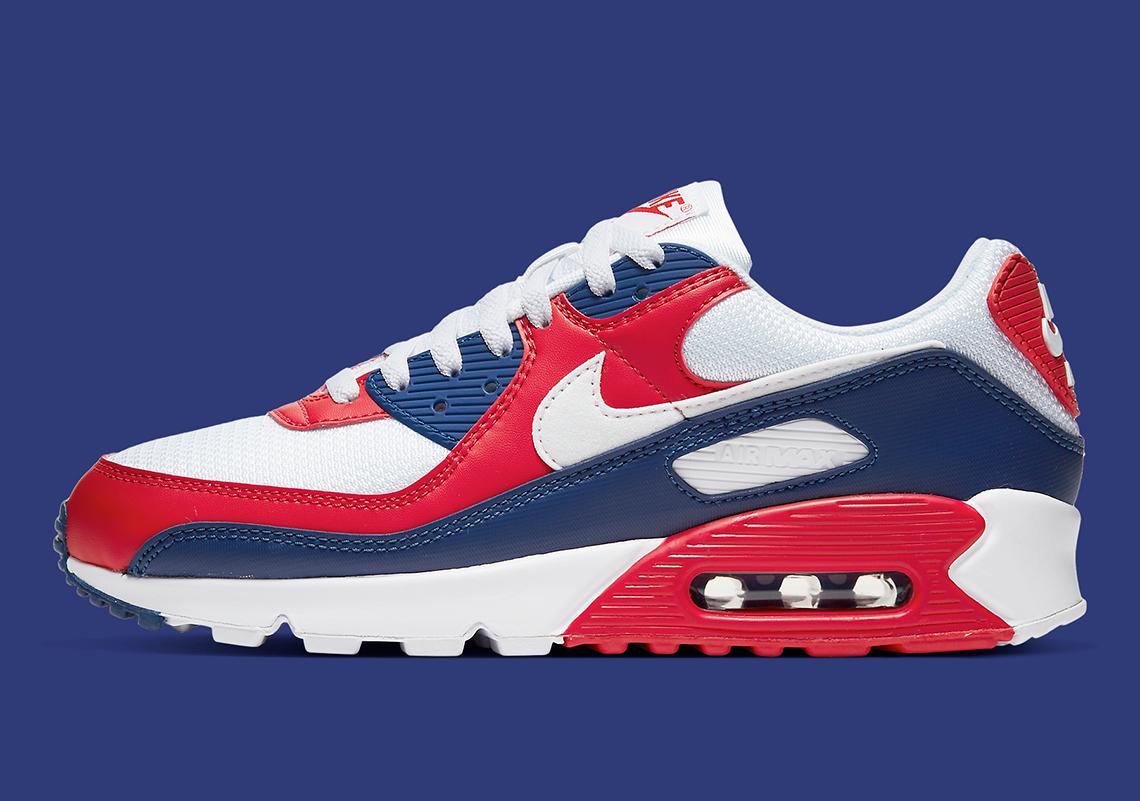 air max 90 bleu blanc rouge