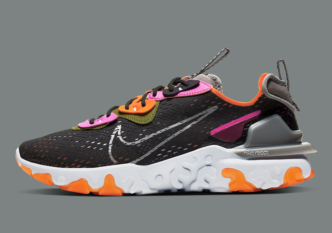 Nike React Vision Noir Orange Fuschia CD4373-003 - Crumpe