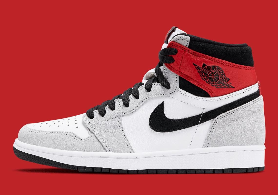 Air Jordan 1 High Smoke Gris Rouge 555088-126 – Crumpe
