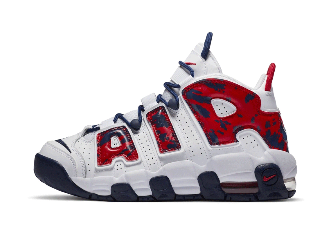 Nike Air More Uptempo Kids USA Camo Crumpe