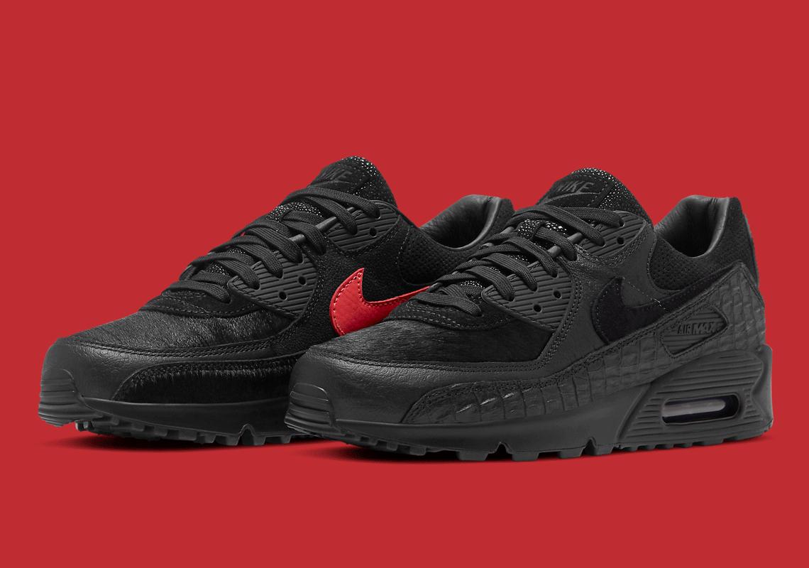 Nike Air Max 90 Noir Exotic Print CZ5588 002 Crumpe