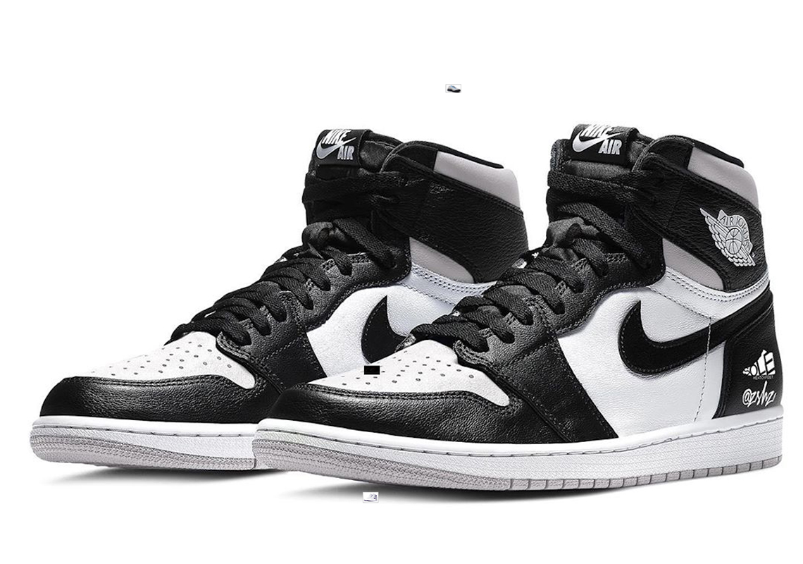 Air Jordan 1 High Noir Blanc 555088 035 Crumpe