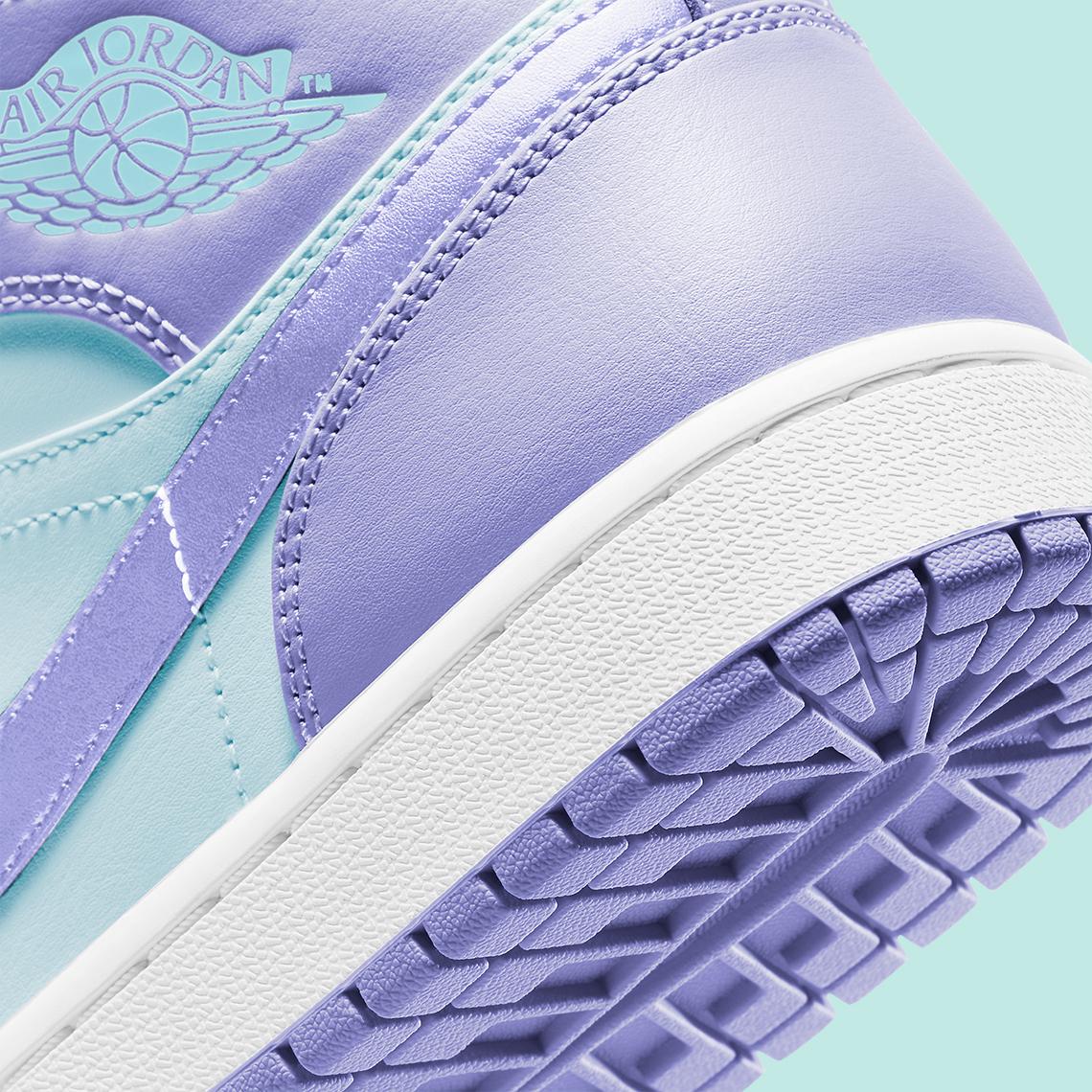 Air Jordan 1 Mid Violet Aqua 554724-500 - Crumpe