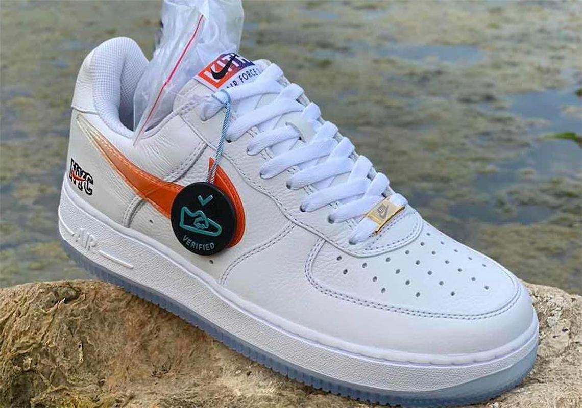 KITH Nike Air Force 1 Blanche Orange CZ7928-100 - Crumpe