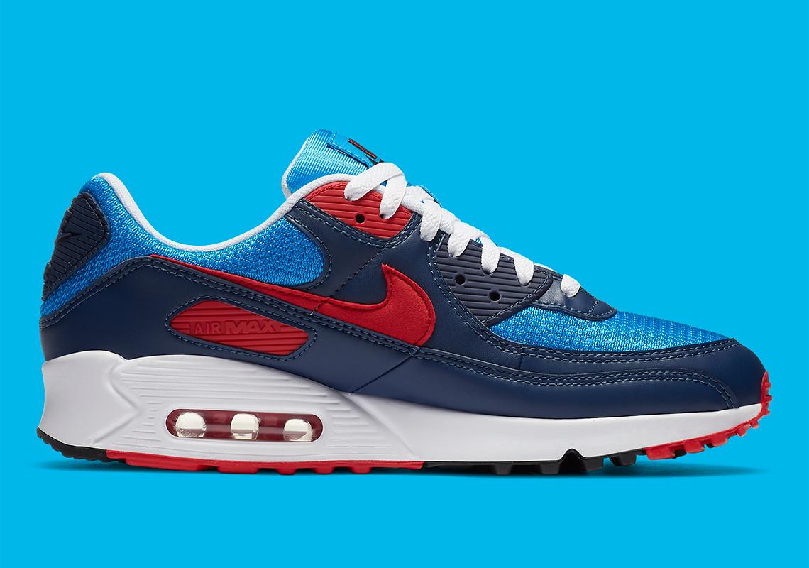Nike Air Max 90 Bleu Rouge Marine CT1687-400 - Crumpe