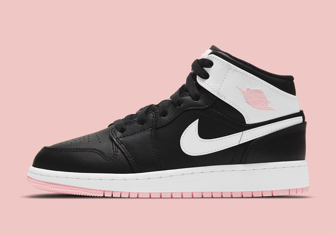 Air Jordan 1 Mid Fille Noir Arctic Pink 555112-061 - Crumpe