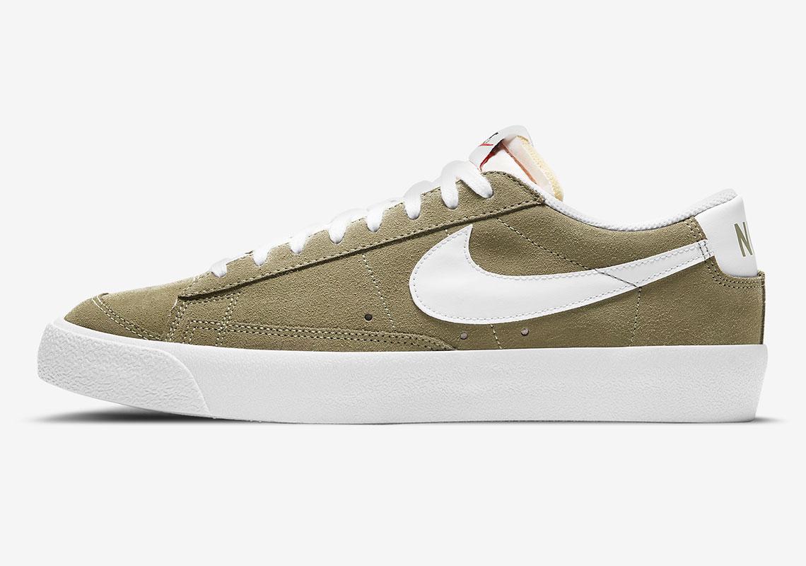 Nike Blazer Low Kaki Blanche DA7254-200 - Crumpe