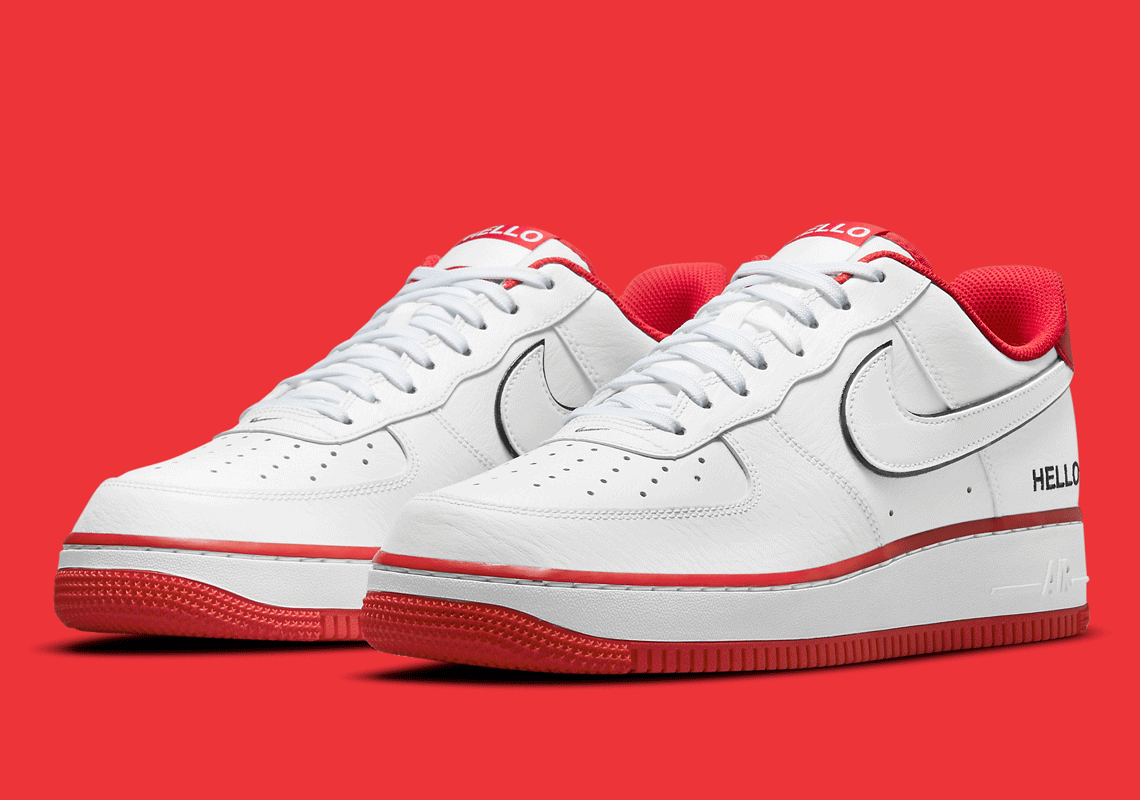 Nike Air Force 1 Hello Blanche Rouge CZ0327-100 - Crumpe